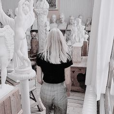 For a brief moment of illusion, I believed her to be one of the statues. But the smile she gave me, that chilly, silky smile, reminded me otherwise. She was not a statue, yet she shared their stony gazes. Their white hair, their pale skin. And their non-existent hearts.