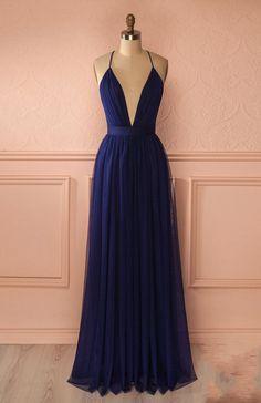 Simple dark blue long prom dress,blue evening #prom #promdress #dress #eveningdress #evening #fashion #love #shopping #art #dress #women #mermaid #SEXY #SexyGirl #PromDresses