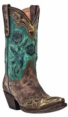 Womens Dan Post Bluebird Cowgirl Boots-- now mine thanks to Rowell's Saddlery!