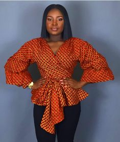 Hello lovelies,Today we bring to you 'Modern Ankara Blouse Styles'. Ankara Tops Blouses, Ankara Peplum Tops, African Blouses, Ankara Blouse, African Tops, Ankara Dress, African Wear, African Dress, African Style