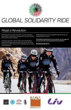 The Global Solidarity Ride for the Afghan Womens Cycling Team is Saturday, August 30th. Create a group ride in support!