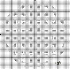 Free Ancient Symbols Cross Stitch Charts: Free Celtic Shield Knot Cross Stitch Pattern