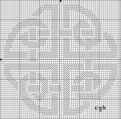 Free Celtic Shield Knot Cross Stitch Pattern  - Right click and save this chart from Pinterest and follow the link for the chart info and key.