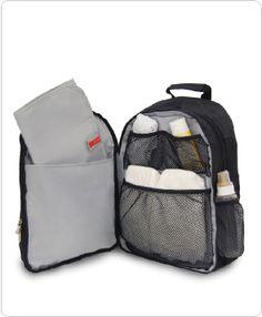 Skip Hop Via Backpack Diaper Bag, Black (Discontinued by Manufacturer) Baby Doll Diaper Bag, Diaper Bag Backpack, Laptop Backpack, Dream Baby, Baby Love, Mk Handbags, Cute Backpacks, Leather Men, Leather Jackets