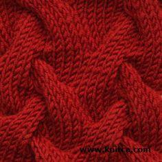 Il lato destro del lavoro a maglia modello di punto - cavo 7