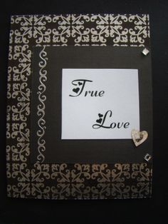 True Love Wedding Card by KraftsByKeller on Etsy, $2.50 Handmade Greetings, Greeting Cards Handmade, True Love, Wedding Cards, Handmade Jewelry, Group, Frame, Board, Crafts