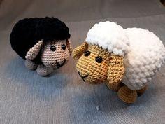 Húsvéti bárány horgolása - Easter lamb crochet step by step Crochet Animal Patterns, Stuffed Animal Patterns, Crochet Patterns Amigurumi, Amigurumi Doll, Crochet Dolls, Crochet Sheep, Crochet Mask, Easter Crochet, Cute Crochet