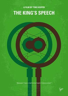 The King's Speech (2010) ~ Minimal Movie Poster by Chungkong #amusementphile