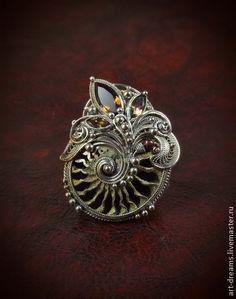 """Кольца ручной работы. Ярмарка Мастеров - ручная работа Кольцо  """"Волшебные сны Наутилуса"""". Handmade."""