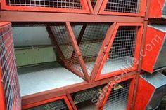 встроенный сенник в клетке для кроликов