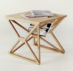 PREVIOUSNEXT SPACEFRAME FURNITURE BY GUSTAV DÜSING Posted by Jaime Derringer on 07.17.12 in Home Furnishings FORWARDVIEW THE PHOTO GALLERY Gustav Düsing recently graduated from the Architectural Association in London and works for an architecture firm in Berlin. His portfolio of work is interesting to me because the material used, plywood, is so simple as is the method of construction of the pieces and yet they feel complicated and complex. Düsing's Spaceframe furniture series is a smal