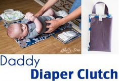 Years ago dads may have escaped from diaper duty, but modern dads are expected to change their fair share of dirty diapers. Melissa from Blank Slate Patterns and Melly Sews shows how to make a dia…