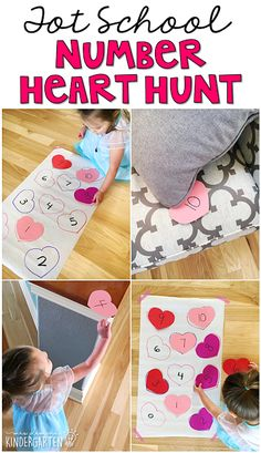 Plemons' Kindergarten Get moving and learning with this number scavenger hunt game. Perfect for learning numbers in tot school, preschool, or the kindergarten classroom. Valentines Games, Valentine Theme, Toddler Learning Activities, Valentines Day Activities, Preschool Lessons, Valentine Day Crafts, Preschool Crafts, Preschool Activities, Valentine Nails