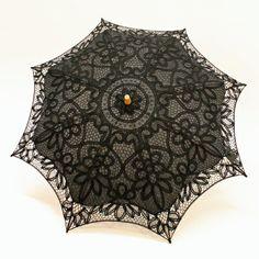 57e874d3d0 Cotton and Lace Parasol - Black