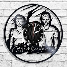 The Chainsmokers band design wall clock, The Chainsmokers wall poster