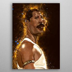 Freddie Caricature by Abraham Szomor | metal posters - Displate