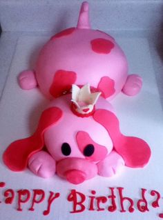 puppy cake even in pink it is freaking cute... my daughter asked for a puppy for her birthday