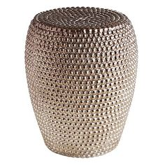 Our Beaded Garden Stool features a shiny finish that's full of texture. It makes a stark contrast to the natural hues of your…