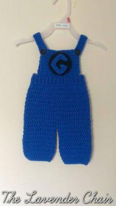 Minion Jumpsuit Crochet Pattern - 0-18months - The Lavender Chair