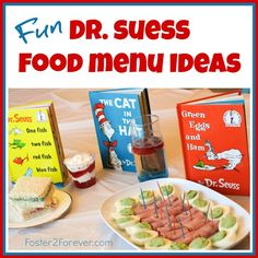 Check out this menu of snack food ideas for a Dr. Seuss-themed birthday party or baby shower!