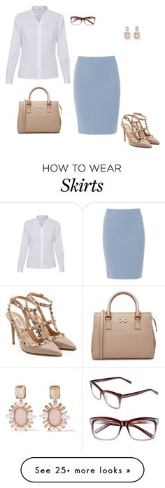 """""""Classic Pencil Skirt"""" by stylebyjonathan on Polyvore featuring Peserico…"""