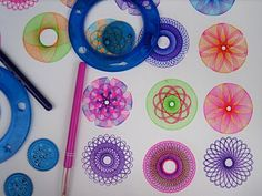 Magic Circles: bought one of these sets yesterday - very relaxing and beautiful results.