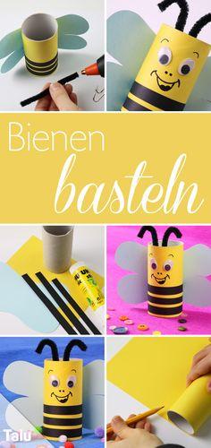 Anleitung - Bienen basteln aus Klorolle - Talu.de