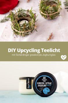 DIY Teelicht mit wildem Grün | Glas Upcycling | Koch mit Herz Recycling, Diy Upcycling, Simple Diy, Heart, Deutsch, Cooking, Upcycle