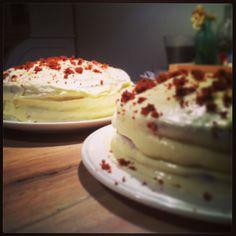 Home made!  Red velvet cake. Lovely!