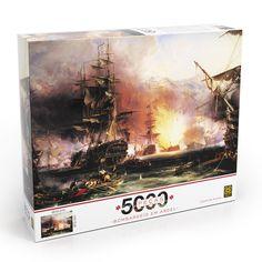 [Loja Grow] Puzzles Bombardeio em Argel 5000 pçs R$99,99 e Vilarejo 3000 pçs R$79,99