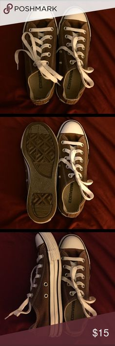 Brown all stars Women's size 6 brown all stars in great condition Converse Shoes Flats & Loafers