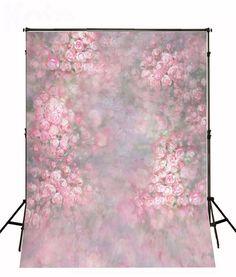 Newborn Photography backdrops Hazy Pink Flowers by ArtBackground