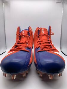 Details About Nike Alpha Menace Elite Football Cleats Red Blue White Sz16 In 2020 Football Cleats White Football Cleats Red And Blue