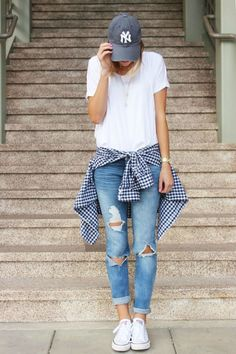 Navy Gingham Shirt Roundup (and what i wore link-up)