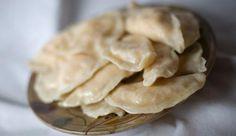 Grandma's Perogie Recipe. Red potatoes, cheese, bacon, saurkraut, cottage cheese, onion, dill. Celebration Generation blog.