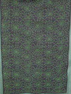 Spiderweb Quilted Wall Hanging Halloween Decoration by KQCreations