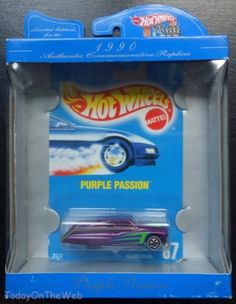Hot Wheels Limited Edition 30th Anniversary 1990 Purple Passion