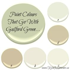 OTHER COLORS THAT GO WITH GUILFORD GREEN  Benjamin Moore 2015 Colour of the Year - Guilford Green - Kylie M Interiors