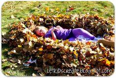 Let Kids Create: Leaf nests (Outdoor play challenge)