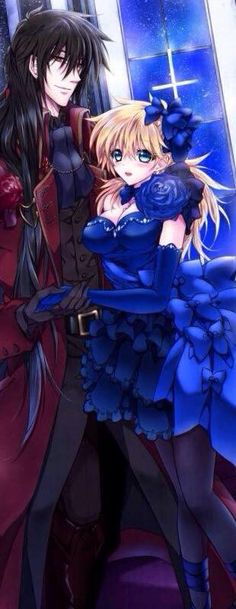 Alucard x Seras|| i don't ship it but man this pic is awesome :3