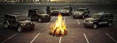 Camp fire time, Jeep style!