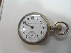 Antique 1901 Hamilton 17 Jewel Lever Set 18 Size Pocket Watch Gold Filled Case 55mm by KayesVintageJewelry on Etsy