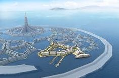 No longer science fiction. World's first floating nation to appear off the island of Tahiti in the Pacific Ocean, in A city floating in international… Floating House, Floating In Water, Floating Cities, Floating Island, Futuristic City, Futuristic Architecture, Tahiti, Metallic Hydrogen, Floating Architecture