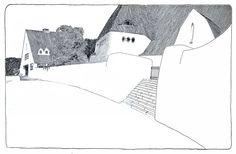 Studie zu einer Dorfkirche, 1903 (E 36) StraBenseite  Heinrich Tessenow