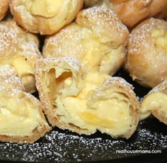 Heavenly Tasting Cream Puffs with Luscious Custardy Filling