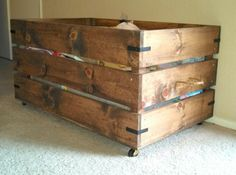 Wood Toy Box | Do It Yourself Home Projects from Ana White                                                                                                                                                                                 More