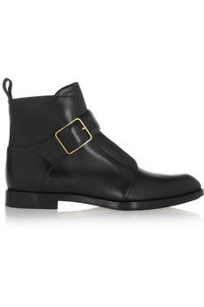 Alexander Wang Monk-strap leather ankle boots | NET-A-PORTER