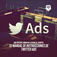 ATENCIÓN! MANUAL DE INSTRUCCIONES DE #TWITTER ADS Lo tienes en nuestro blog de #socialmedia >> http://socialmedia-rebeldesonline.com/como-hacer-publicidad-en-twitter/
