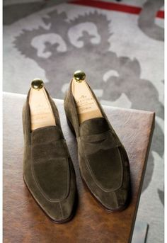 Carmina Brown Suede Loafer - Simpson Last  These are loafers for the non-believers. The look is not old-fashioned and not fashion forward. The sleek Simpson last paired with a simple, clean loafer design that is comfortable wear and extremely versatile. They are one of the most popular shoes in our store.