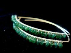 silver emerald earrings ZAMBIAN EMERALD LEAF  by MoMoJewellery, £43.00